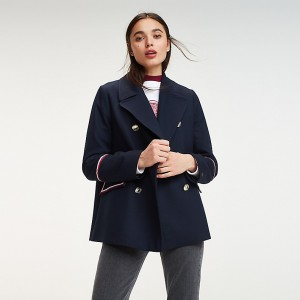 Military Double Breasted Peacoat