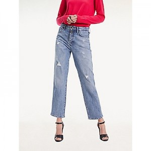 High Rise Straight Fit Jean