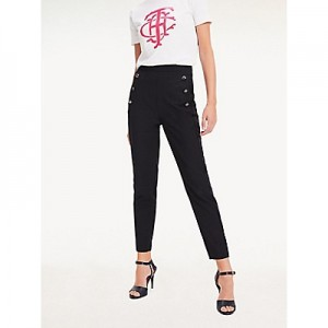 Side Button Stretch Pant