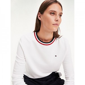 Stripe Collar Sweatshirt