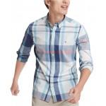 Mens Haiden Classic-Fit Stretch Plaid Shirt