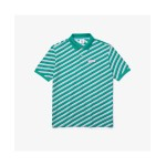 Mens Petit Pique Logo Striped Polo