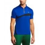Mens SPORT Short Sleeve Colorblock Ultra Dry Zip-Neck Polo Shirt