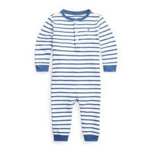 Ralph Lauren Baby Boys Striped Henley Coverall
