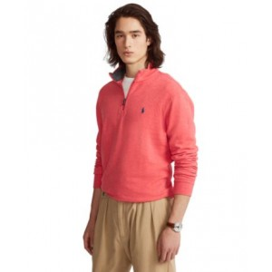 Mens Jersey Quarter-Zip Pullover