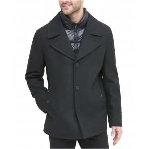 Mens Stadium Shorty Peacoat with Quilted Bib, Created for Macys