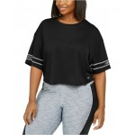 Plus Size Logo-Sleeve Dri-FIT Cropped T-Shirt