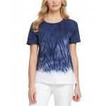 Tie-Dye Sequin-Graphic T-Shirt