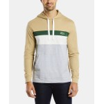 Mens Long Sleeve Colorblock Jersey Hoodie