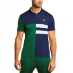 Mens SPORT Short Sleeve Asymmetrical Colorblocked Ultra Dry Polo Shirt