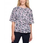 Printed Side-Knot Top