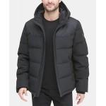 Mens Mixed-Media Puffer Coat, Created for Macys