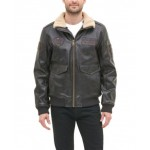Mens Top Gun Faux Leather Aviator Bomber Jacket, Created for Macys
