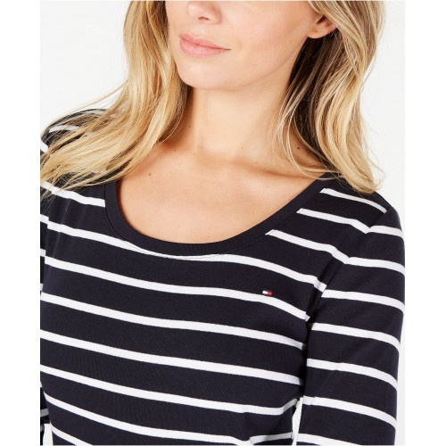 타미힐피거 Cotton Striped Long-Sleeve T-Shirt, Created for Macys