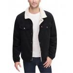 Mens Fleece-Lined Corduroy Trucker Jacket