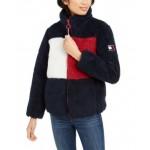 Colorblocked Logo Shearling Jacket
