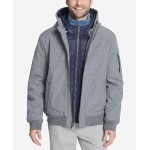 Soft-Shell Hooded Bomber Jacket with Bib