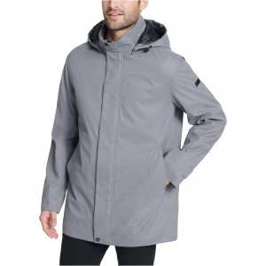 Mens All Man Micro Fiber Hooded Trench Jacket