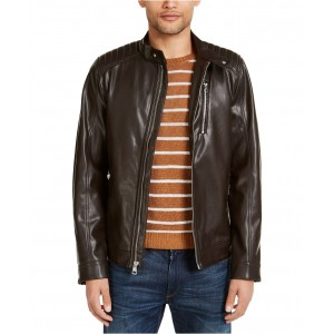 Mens Faux Leather Moto Jacket, Created for Macys