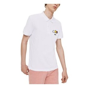 Mens Croco Series FriendsWithYou Limited-Edition Polo with Cartoon Graphics