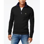 Mens Ribbed Quarter-Zip Cotton Sweatshirt