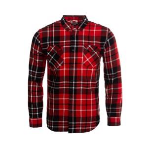 Mens Modern Western Plaid Shirt