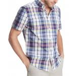 Mens Custom-Fit Dale Hollow Plaid Short Sleeve Shirt