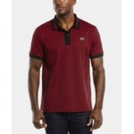 Mens LIVE Short Sleeve Houndstooth Printed Polo Shirt