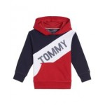 Toddler Boys Tricolor Pieced Pullover Hoodie