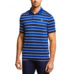 Mens SPORT Striped Jersey Polo Shirt