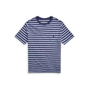 Big Boys Striped Cotton Pocket T-shirt
