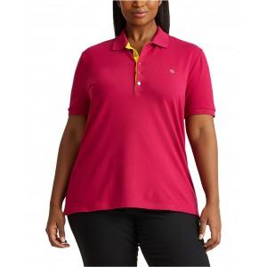 Plus-Size Pique Polo Shirt