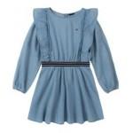 Big Girls Ruffle Denim Dress