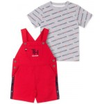 Baby Boys 2-Pc. Logo T-Shirt & Overalls Set