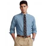 Mens Classic-Fit Indigo Chambray Shirt