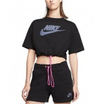 Womens Sportswear Icon Clash Cropped Top