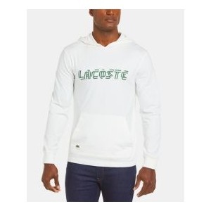 Mens Regular Fit Long Sleeve Hooded T-Shirt with Heritage Ribbon Lacoste Lettering
