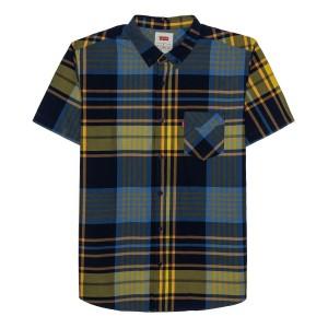 Mens Button-Down Plaid Shirt