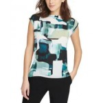 Printed Boat Neck Top