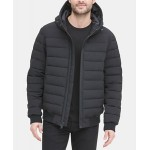 Mens Quilted Hooded Bomber Jacket