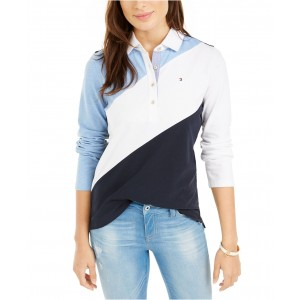 Long-Sleeve Colorblocked Rugby Polo, Created for Macys