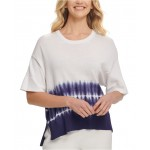 Ribbed Cotton Tie-Dye Sweater