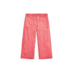 Toddler and Little Girls Cropped Chino Pant