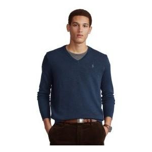 Mens Herringbone V-Neck Sweater