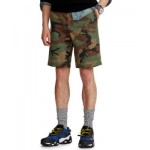 Mens 10-Inch Relaxed Fit Camo Chino Shorts