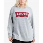 Batwing Trendy Plus Size Logo Graphic Sweatshirt