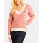 Wool Striped V-Neck Sweater