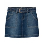 Little Girls Utility Skirt with Removable Belt