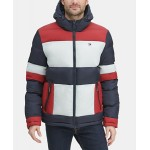 Mens Colorblocked Hooded Puffer Coat, Created for Macys