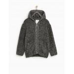FABRIC BLEND THREE-QUARTER LENGTH JACKET